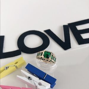 Jewelry - Green Emerald CZ Gold Filled Ring